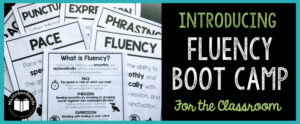 """""""Fluency Boot Camp"""" includes everything you need to get started with fluency in your classroom! This 90+ page product is perfect for introducing FLUENCY and it's four major components: pace, phrasing, expression, and punctuation. Each day (or week!), you can introduce a new fluency component with modeling and practice. A menu of fluency activities are included, along with all the materials to go with each!"""