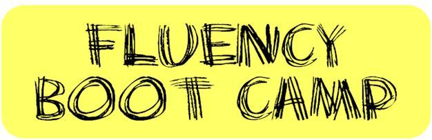graphic regarding Printable Reading Fluency Games titled Fluency Boot Camp - MsJordanReads