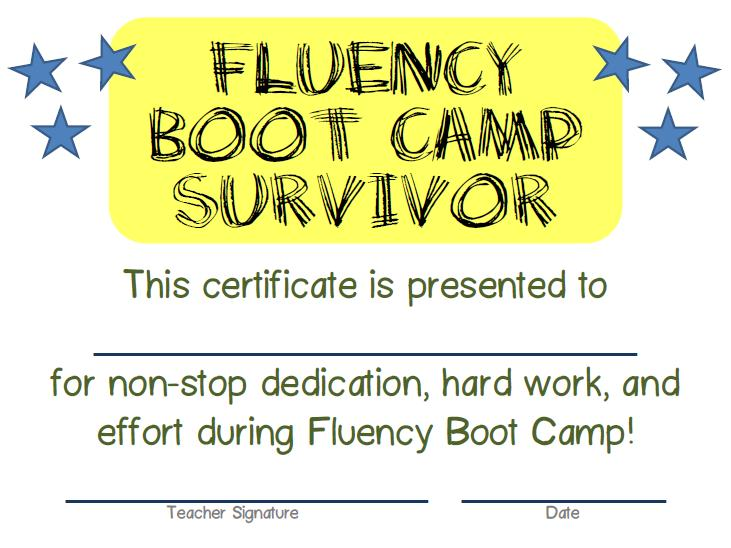 Fluency boot camp msjordanreads you fandeluxe