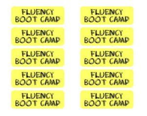 Fluency boot camp msjordanreads the nitty gritty fluency activities fandeluxe Image collections