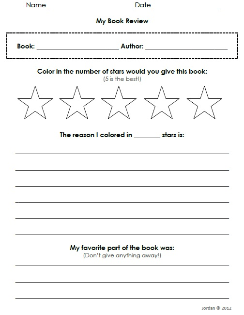 FREE Author Study (writing a book report) | Free is Great ...