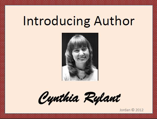 Cynthia Rylant- Author Study - The Applicious Teacher