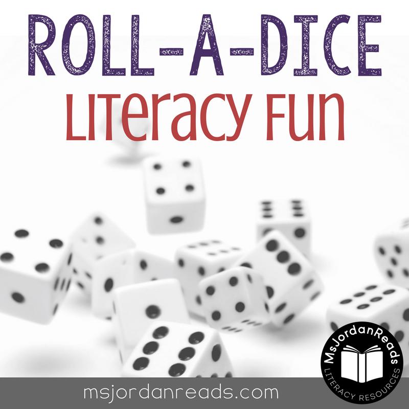 Classroom Holiday Ideas ~ Roll a dice literacy fun msjordanreads
