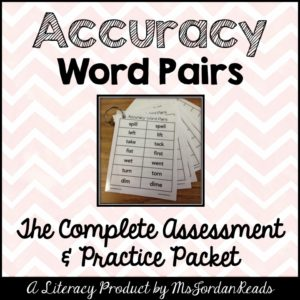 Accuracy Word Pairs | A literacy resource of similar word pairs for students to practice developing visual discrimination and reading with accuracy. Include practice and assessment materials.