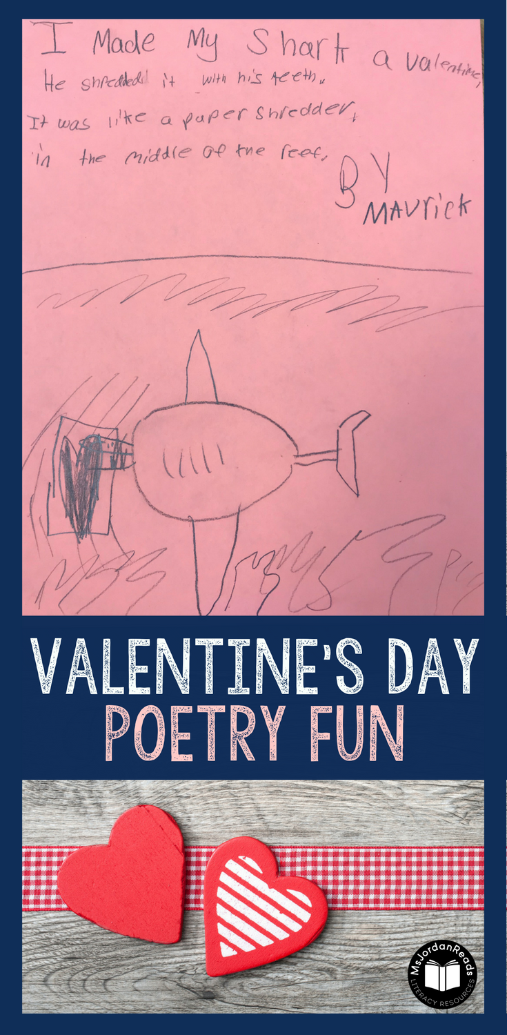 Valentine's Day is the perfect opportunity for students to read silly poems and write their own! Using Jack Prelutsky's poem: