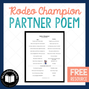 A Free Partner Poem from MsJordanReads | This poem is a back-and-forth, readers theater-style poem for two voices to practice fluency!