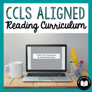 CCLS-Aligned Reading Curriculum | A blog post sharing free resources for aligning your ELA curriculum with the Common Core standards for Reading, Writing, and Fluency!