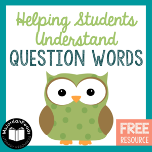 Helping Students Understand Question Words | Literacy Resources Promoting Questioning Skills for Reading | Free Question Words Resource