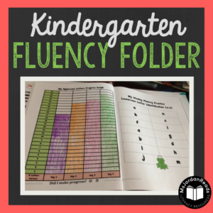 Kindergarten Fluency Folder | Weekly fluency practice for Kindergarten using word lists, word cards, and progress graphs. Students can improve their reading accuracy and pace using the provided materials, and teachers can use the word lists for assessments.