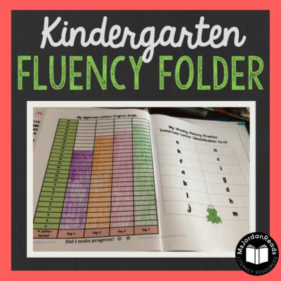 Kindergarten Fluency Folders