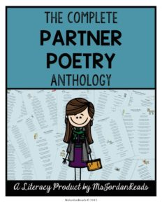 The Complete Partner Poetry Anthology | Partner Poems for Every Month! You can print them or read them digitally on iPads!
