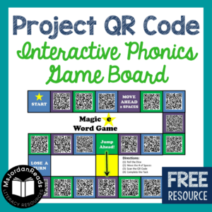 Project QR Code - Interactive Game Boards for Practicing Phonics.