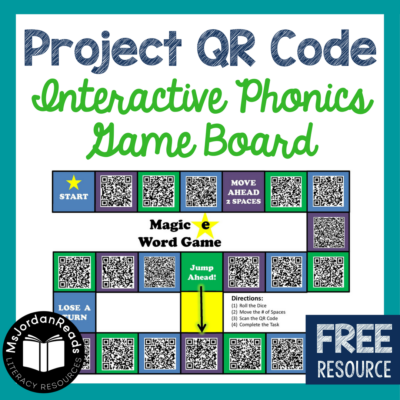 """Project QR Code"" — Interactive Phonics Game Board"