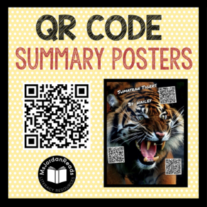 QR Code Summary Posters | Fun, engaging summarizing activity involving iPads and technology.