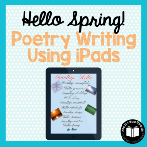 Hello Spring Poetry Writing Activity | Students will love writing poems to say goodbye to winter and hello to spring! An easy writing activity for your poetry unit, poetry center, or even as a simple sub activity!