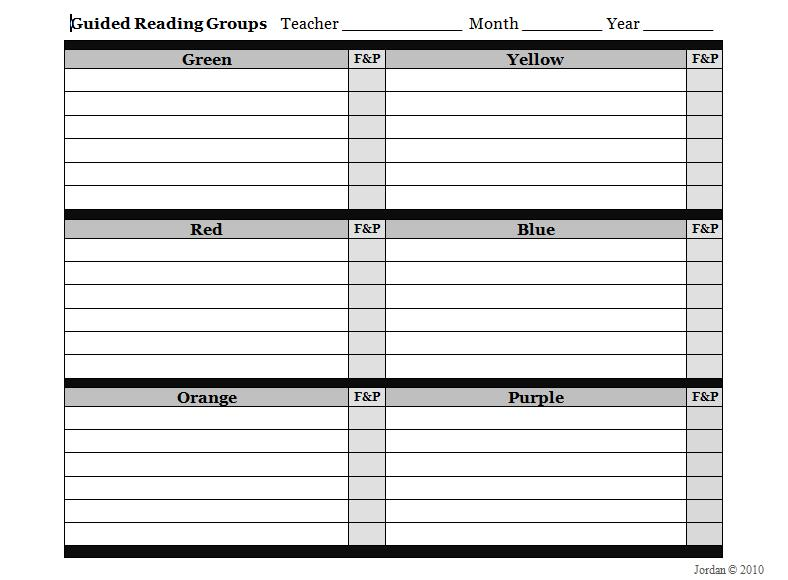 Guided Reading Grouping