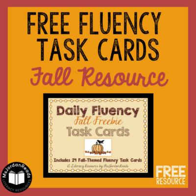 A Harvest-Themed Fluency Freebie