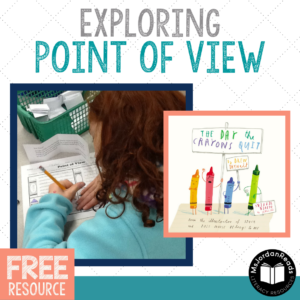 character perspective using the wonderful mentor text: The Day the Crayons Quit | Includes free printable graphic organizer
