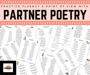 Bring FLUENCY fun into your classroom with 15+ partner poems from @MsJordanReads! Each poem is similar to doing a readers theater, but just in poetry format. Perfect for teaching PERSPECTIVE & POINT OF VIEW!