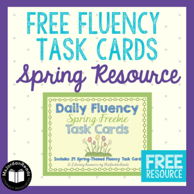 {FREE} Fluency Task Cards for Spring!