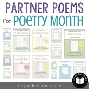 Partner Poems for Poetry Month (MsJordanReads)