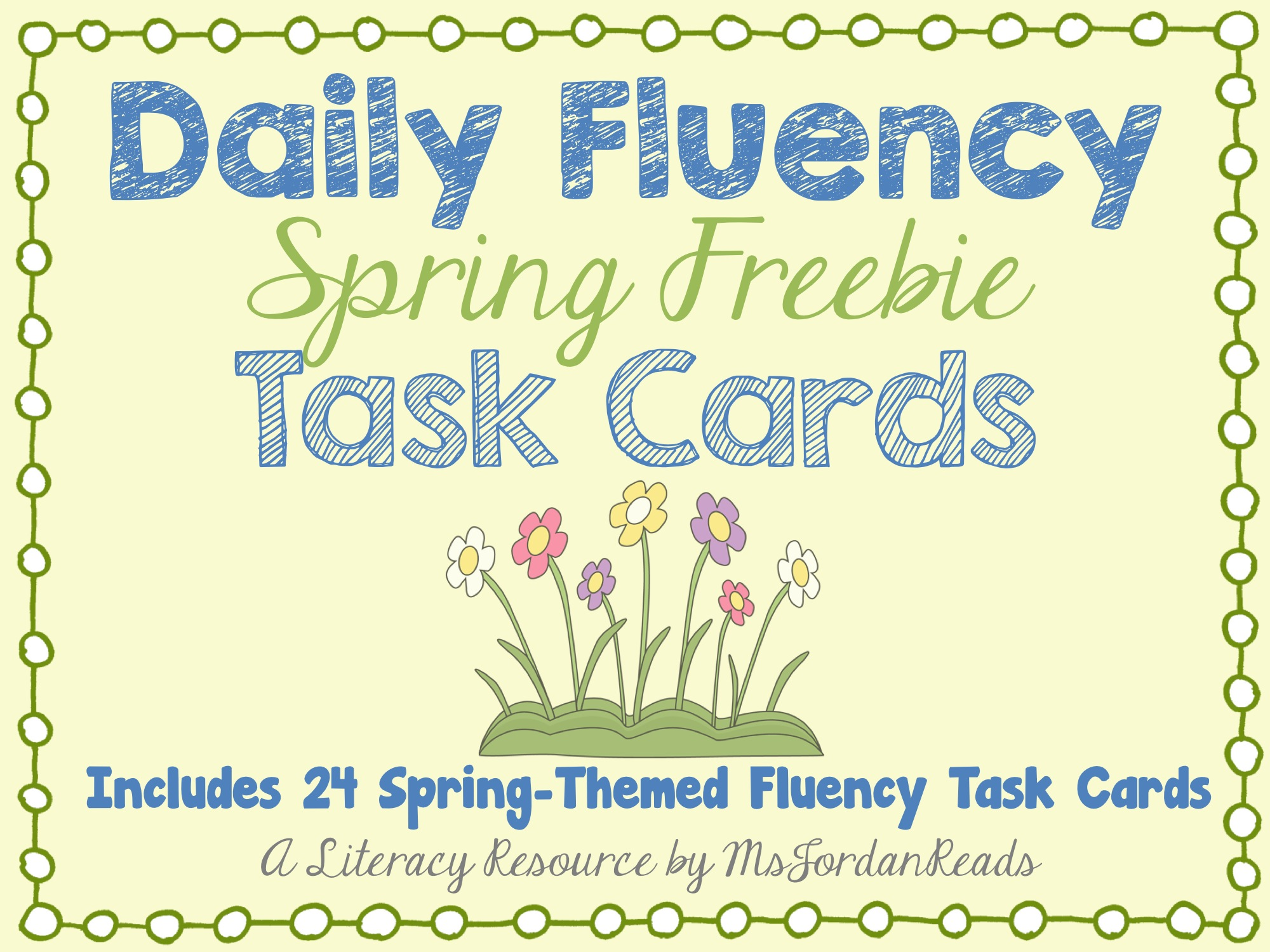 DailyFluencyTaskCards_SpringFreebie 4:20:2015