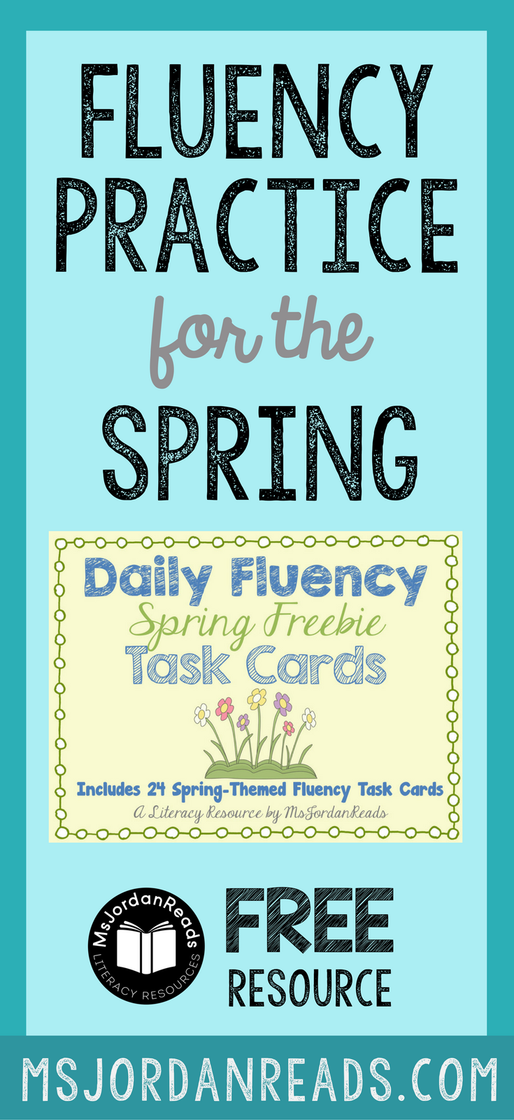 Fluency Task Cards for Spring that you can download for your classroom FREE! | Free printable task cards for fluency practice at school or at home. Students will enjoy the variety of fluency tasks!