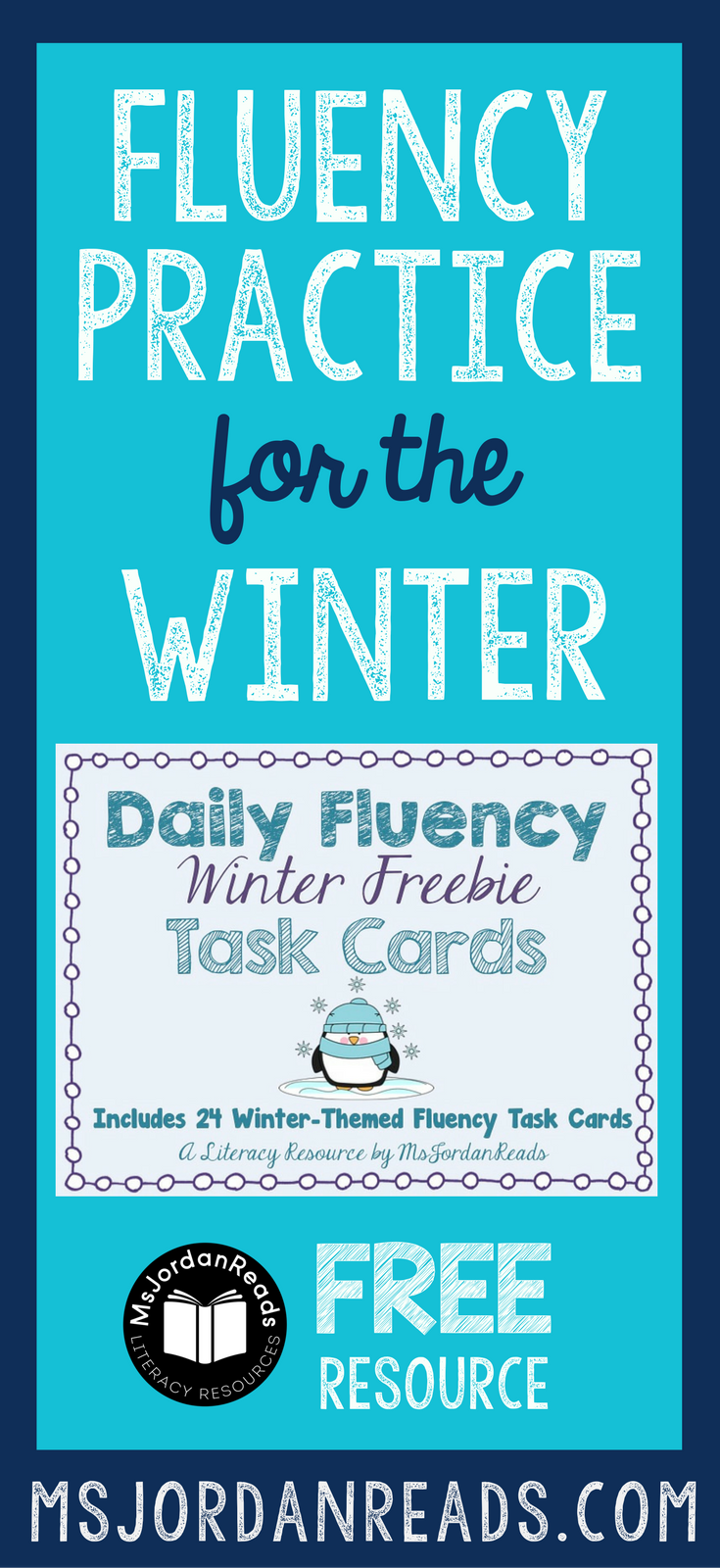 Winter Fluency Task Cards that you can download for your classroom FREE! | Free printable task cards for fluency practice at school or at home. Students will enjoy the variety of fluency tasks!