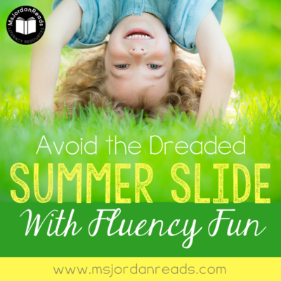 Avoid the Dreaded Summer Slide with Fluency Fun | Fluency activities to avoid the summer regression | FREE summer fluency task cards