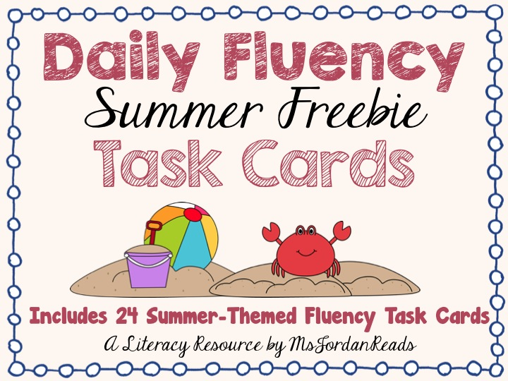 Daily Fluency Task Cards SUMMER