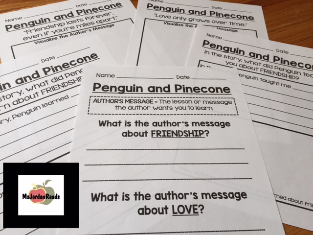 Penguin and Pinecone Graphic Organizers (MsJordanReads)