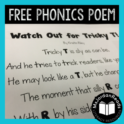 """Watch Out for Tricky T!"" – Free Phonics Resource"