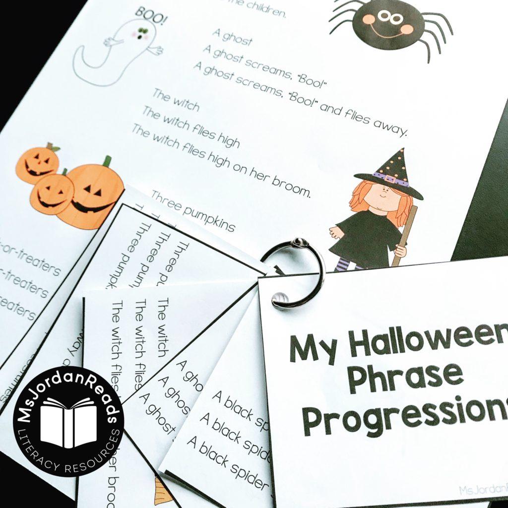 Halloween Phrase Progression Subscriber Freebie