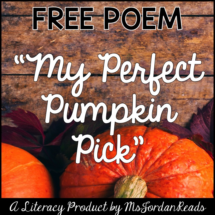 My Perfect Pumpkin Pick - FREE Poem for Fall Fluency
