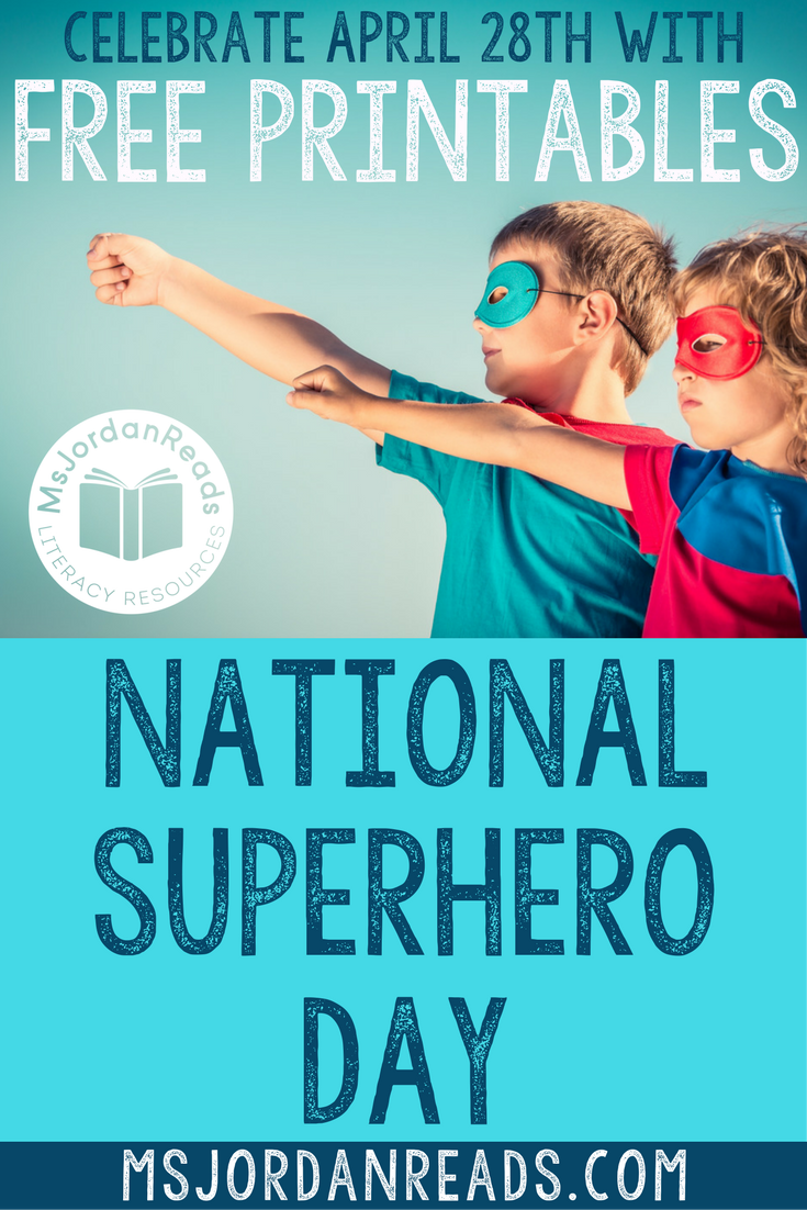 FREE Classroom Activities for National Superhero Day | Celebrate your inner superhero powers and promote positive character traits in your classroom with printable class books, bulletin board displays, masks, bookmarks, and read-alouds! | Free Printables | Freebies