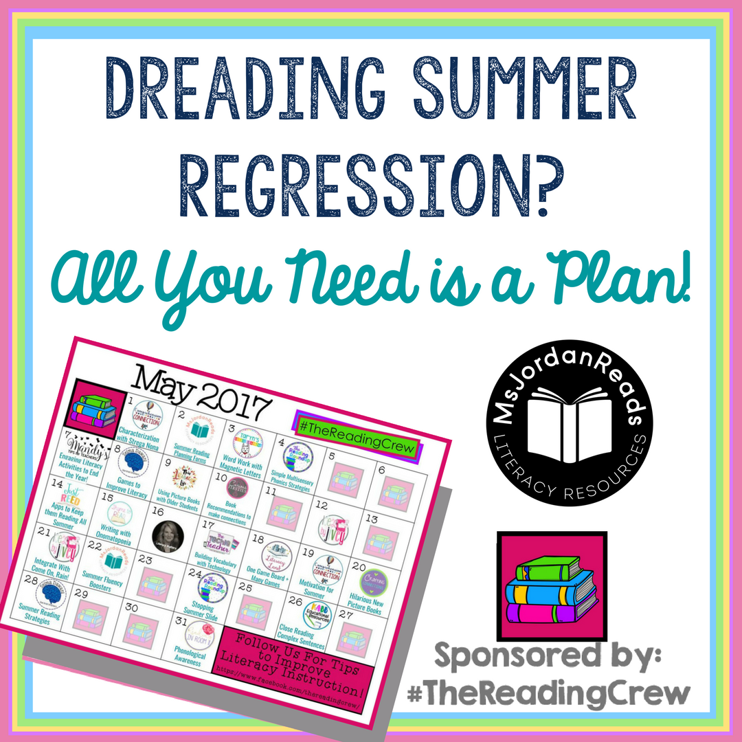 Dreading Summer Regression? All You Need is a Plan! | A blog post sharing ideas for avoiding summer regression. Includes free summer reading planning forms for teachers and parents hoping to avoid the