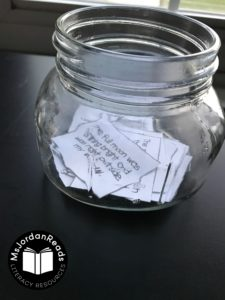 DIY Fluency Jars | Fluency activities to promote reading fluency at home over the summer. Fill the jars with fluency task cards, phrases, sentences, or any independent level text!