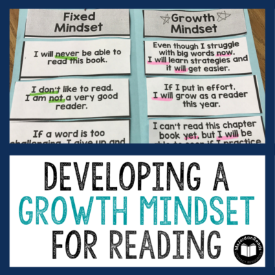 Help your students develop a Growth Mindset for Reading! These classroom resources and activities are perfect for teaching students the power of a positive mindset. With a Growth Mindset for Reading, students will become more confident, strategic readers and can develop tools to grow as readers throughout the year.